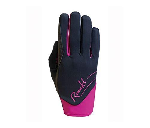 Roeckl Sports Handschuhe June, Winter Reithandschuhe, schwarz Beere, Gr. 8