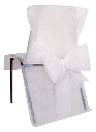 10 Housses de chaise Blanche - taille - Taille Unique - 212656