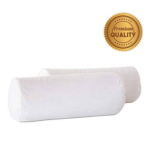 Review Plankroad Home Décor 9Dx24 Hypoallergenic Fluffy Faux Down Poly Bolster Pillow Insert, 100% ...