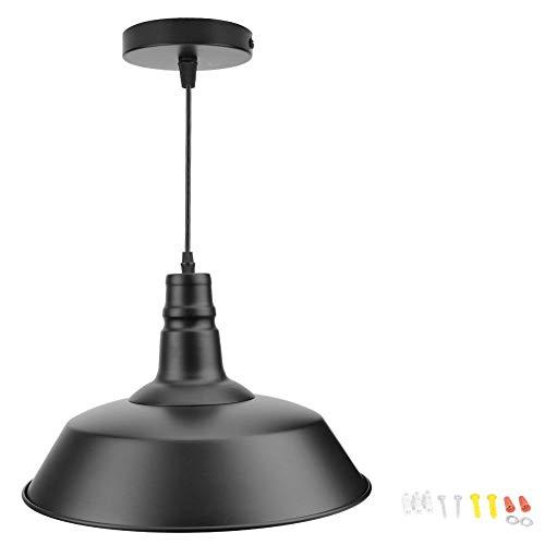 LED-hangende plafondlamp, E27/26 Vintage industriële aluminium LED-plafondlamp hanglamp voor caféwinkel binnenplaats/gang/tentoonstellingszaal/balkon/hotel 85-265V(36cm)
