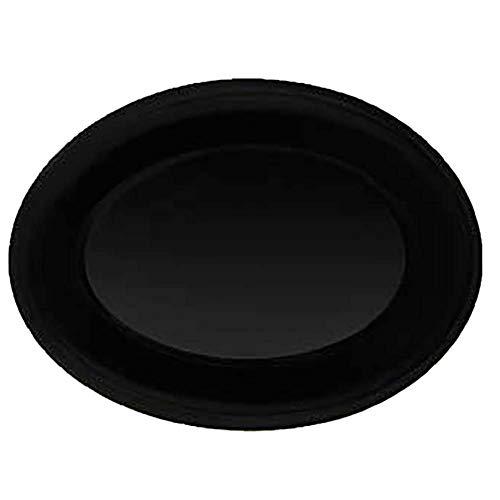 GET OP-950-BK Melamine Oval Serving Platter  Dinner Plate 975 x 725 Black Set of 12