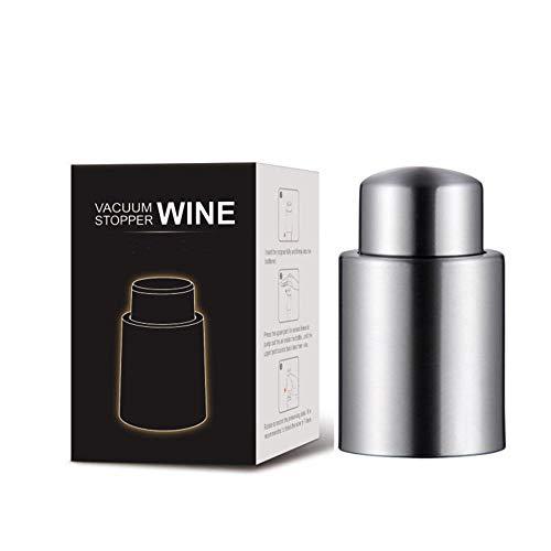 Tapón de vino sin aire Corcho de vino sellado Tapón de botella sin aire de acero inoxidable Tapón de botella de vino de conservación fresca Vino tinto
