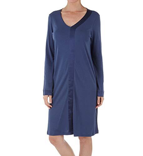 Hanro Damen Elara 1/1 Arm 100 cm Nachthemd, Blau (Horizon Blue 1647), 34/36 (Herstellergröße: XS)