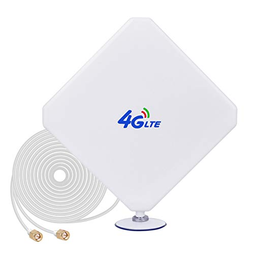 SMA 4G Hochleistungs LTE Antenne 35dBi WiFi Signal Booster Verstärker Modem Adapter Netzwerk Empfänger Antenne mit hoher Reichweite für Mobile Hotspots (SMA Stecker Male)