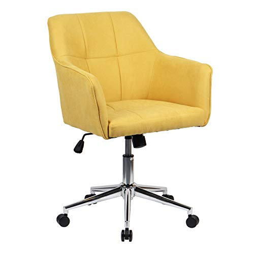 SVITA Jake Bürostuhl Konferenzstuhl Drehstuhl Chefsessel Höhenverstellung Gelb