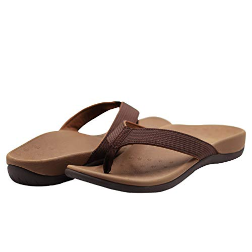 IRSOE Orthotic Flip Flops Thongs Women's Arch Support Sandals for Plantar Fasciitis & Flat Feet - Orthopedic Slippers Shoes