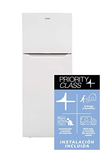 Sauber - Frigorífico Dos Puertas SC177B Tecnología NOFROST - Eficiencia energética: A+ - 177x70cm - Color Blanco