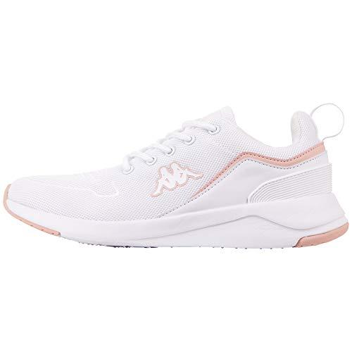 Kappa Darou Unisex, Zapatillas para Correr de Carretera Adulto, 1021 White Rosé, 38 EU