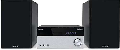 TechniSat DIGITRADIO 750 - DAB+ Mikro-HiFi System (DAB+, UKW, CD-Player, Bluetooth-Audiostreaming, 100 Watt RMS Stereo-Boxen, Kopfhöreranschluss, Fernbedienung,Kompaktanlagen) schwarz/silber
