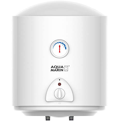 Aquamarin® Elektro Warmwasserspeicher - 30L, 1500W Heizleistung und Thermometer, Maximale Temperatur: 75° C - Wasserboiler, Warmwasserboiler