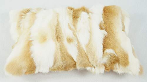 bokke Fellkissen Rabbit, Naturfell, Naturbeige, 30x50cm
