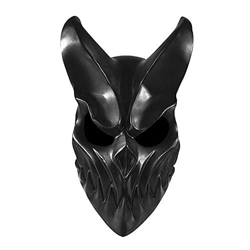 lefeindgdi Cubierta de cabeza de Halloween anónima, máscara de demonio del diablo, disfraz de matanza horrible para Halloween fiesta de disfraces