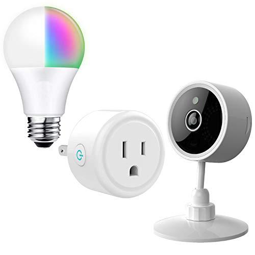 Premier Accessory Group Smart Home Devices, Smart Plug, WiFi Camera, and Smart Bulb