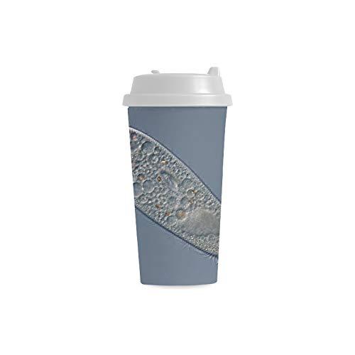 Leben Ursprung Paramecium Benutzerdefinierte 16 Unze Doppelwand Kunststoff Isolierte Sport Wasserflasche Tassen Pendler Reise Kaffeetassen Für Student Frauen Milch Teacup Drink