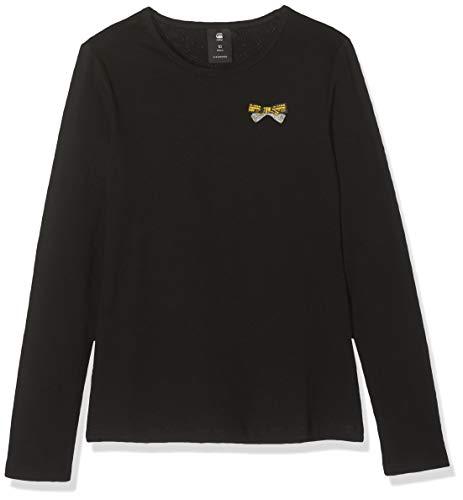 G-Star Sp10505 LS tee Camiseta de Manga Larga, Negro (Black 02), 8 años (Talla del Fabricante: 8A) para Niñas