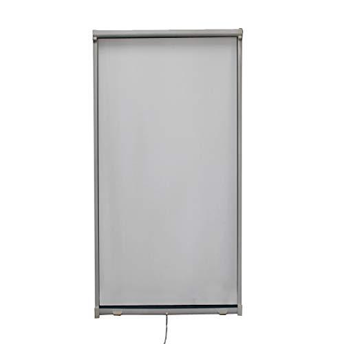 Fliegengitter Rollo Fenster Insektenschutzrollo mit Aluminum Rahmen Individuell Kürzbar,80 * 160cm,Grau