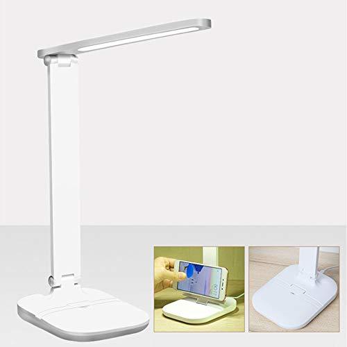 Einstellbare LED-Schreibtischlampe, Leselampen-Studienlampen, Augenpflegeschutz, Klassische Studienlampe, Nachttischlampe am Bett, Tischbeleuchtung, mit 3 Lichtmodi, USB-Stromversorgung,Plug in