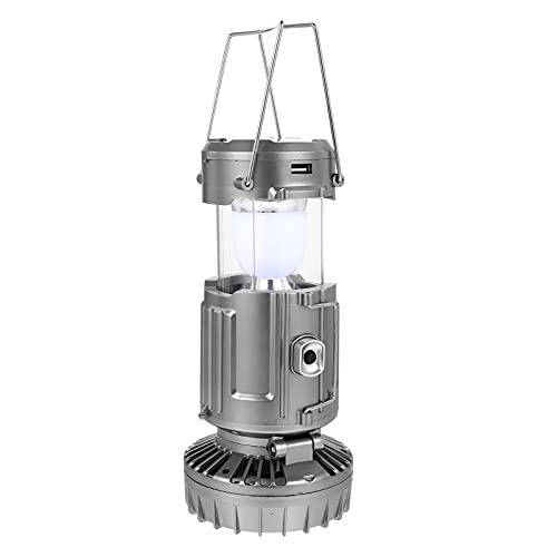 OSALADI Linterna de Camping de Carga USB Solar Luz LED de Caballo Luz de Camping Recargable Luz de Emergencia Portátil