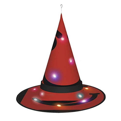 AOOEDM Halloween Witch Hat Party Cosplay Decoracin Bon? Jovi? Have? A? Nice? Day? Sombrero de Bruja para Mujer Disfraz Accory