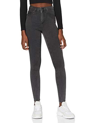 Noisy may Damen NMCALLIE HW Skinny Jeans VI069DG NOOS Hose, Dark Grey Denim, 27/32