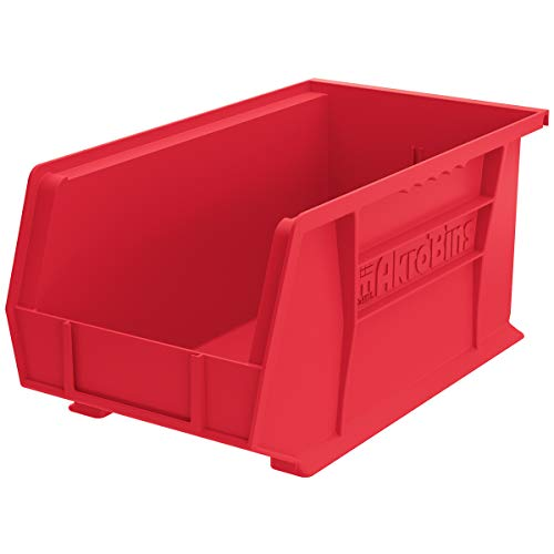 Akro-Mils 30240 Plastic Storage Stacking Hanging Akro Bin, 15-Inch by 8-Inch by 7-Inch, Red, Case of 12
