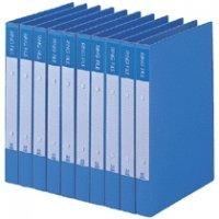 ビュートン リングファイル A4タテ 2穴 200枚収容 背幅30mm ブルー BRF-A4-B 1セット(10冊)