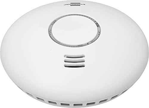 BrennenstuhlConnect WiFi Rauch-und Hitzewarnmelder WRHM01 mit App-Benachrichtigung (WLAN Rauchmelder inklusive 2x Batterien, geprüft nach EN 14604)