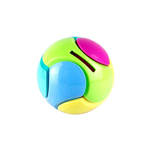 Livoty Puzzle Ball Toy Coin Bank Piggy Bank Puzzle Game Saving Money Educational Toys Gifts (Multicolor)