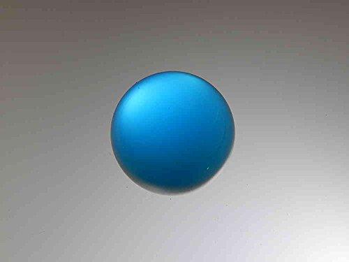 SCHÄFER GLAS SHOP 2er-Set Glaskugel ohne Loch ca. 20 mm, poliert, rundgeschliffen, aqua