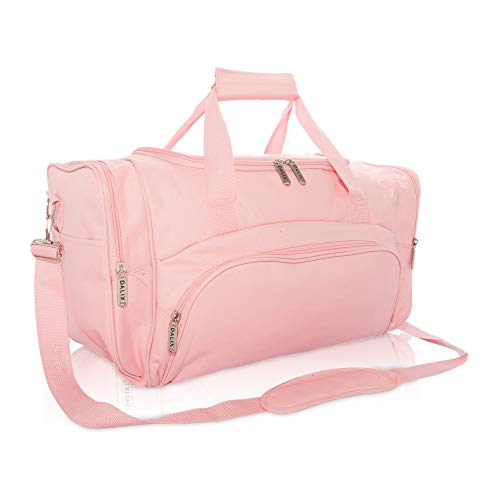 DALIX Signature Travel or Gym Duffle Bag in Pink