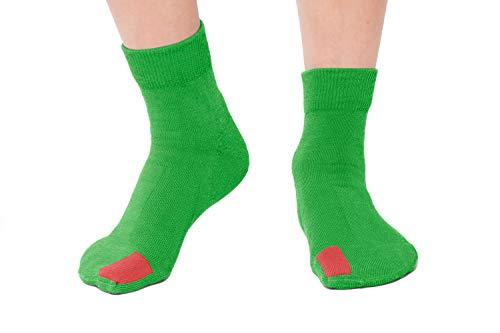 plus12socks: einfach nur gerade, Kindersocken, Baumwolle (öko-tex) (24-26, grün)
