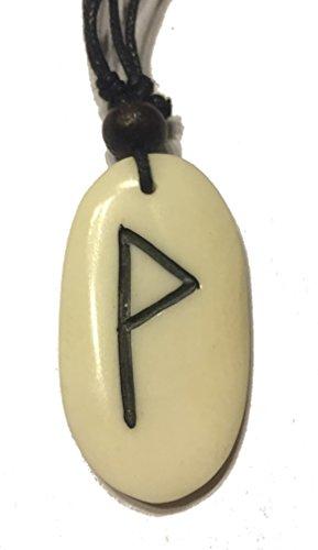 Wunjo Rune - Kettenanhänger aus Knochen (weiss) | TYR, TEIWAZ, Runen, Runenschmuck