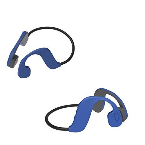 IUANUG IP68 Impermeable MP3 Bluetooth 5.0 Conducción Ósea Piscina Headset Memoria Incorporada De 32 GB Natación del MP3 del Auricular De Bluetooth del Jugador,Azul