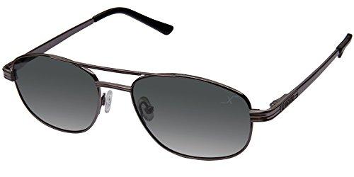 Xezo 200 Piloten-Sonnenbrille für Herren, Schwarz / Chrom, 200 ml