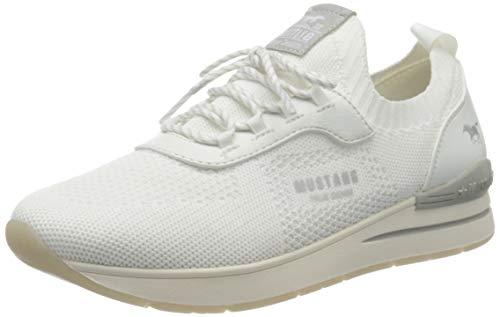 MUSTANG Damen 1352-303-1 Sneaker, Weiß (Weiß 1), 37 EU