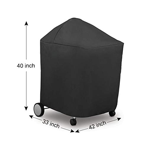 Amazing Deal JohnnyBui - 11 Sizes Black Waterproof BBQ Cover BBQ Accessories Grill Cover Anti Dust R...