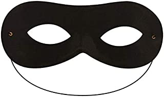 Eye Mask Eyemask Black Domino Batman Superhero Robber Bandit Zorro Masquerade Halloween Ball Costume Carnival Fancy Dress ...