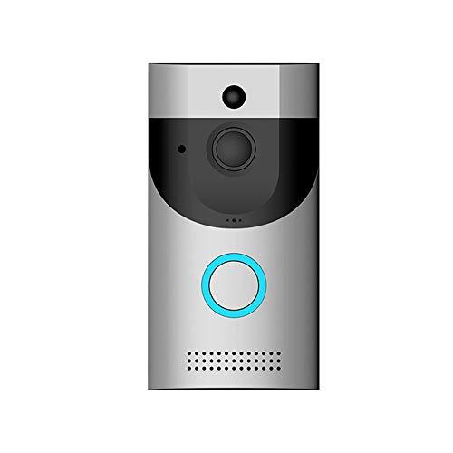 Timbre de video inalámbrico, almacenamiento en la nube timbre inteligente con tono de llamada Cámara de seguridad HD con función de visión nocturna de video, adecuado para oficina en casa