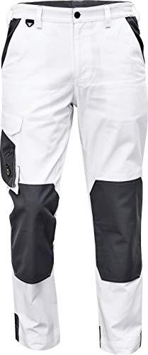 DINOZAVR Cremorne Pantaloni da Lavoro Comodi da Uomo con Tasche al Ginocchio e Cintura Elastica - Bianco 52