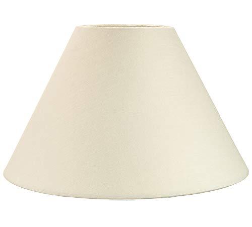 """Traditioneller 14"""" Creme-Baumwolle Kühleffekt-Lampenschirm geeignet für Tischlampe oder Anhänger von Happy Homewares"""