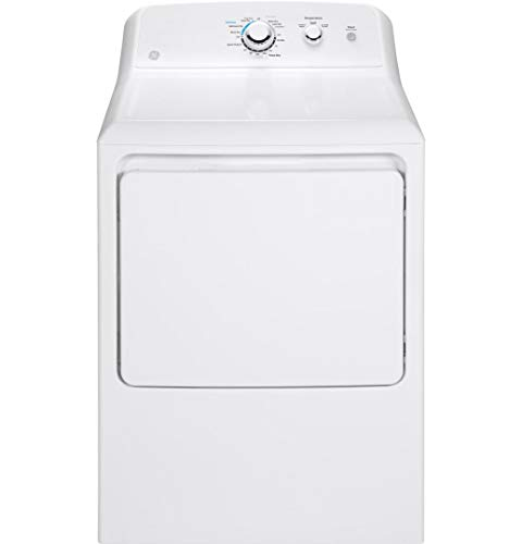 GTX33EASKWW 27 Electric Dryer With 6.2 cu. ft. Capacity Aluminized Alloy Drum Auto Dry Up Front Lint Filter And Rotary Electromechanical Controls: White
