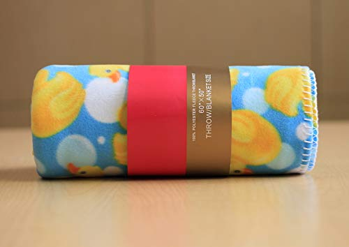 Rubber Ducky Fleece Blanket (Various Sizes and Layers) (40x60)