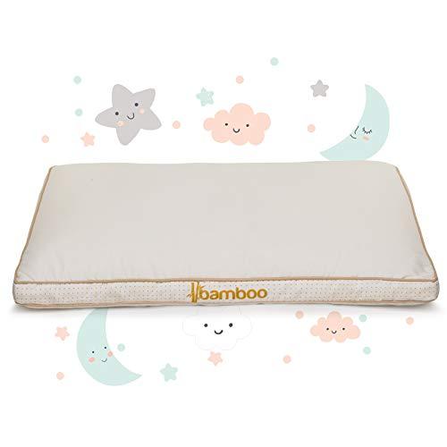 Kinder Kopfkissen 40x60 ab 1 Jahre - Soft, Gesund, Hypoallergen Babykissen für alle Schlafpositionen - Kinderkissen nach ÖKO TEX STANDARD 100 zertifiziert (My First Pillow Bamboo)