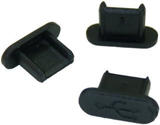 テクノベインズ MicroUSBコネクタ用キャップ(ロングタイプ)(黒)つまみなし 6個/パック USBMCBLCK-B0-6 ※適合状態について説明参照