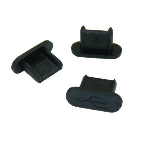 テクノベインズ MicroUSBコネクタ用キャップ(ロングタイプ)(黒)つまみなし 6個/パック USBMCBLCK-B0-6 ※適...