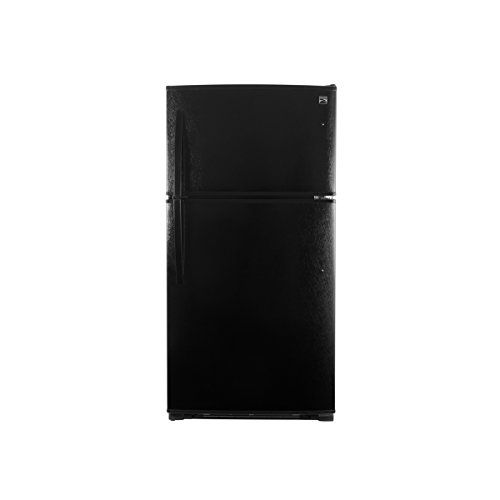 Kenmore 71219 21 cu.ft. Top-Freezer Refrigerator with Ice Maker and LED Lighting in Black, includes delivery and hookup