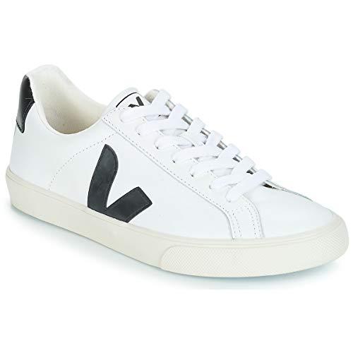 Veja Esplar Low Logo Zapatillas Moda Hombres Blanco/Negro - 43 - Zapatillas Bajas Shoes