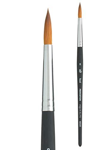 Princeton Aqua Elite, Series 4850, Synthetic Kolinsky Watercolor Paint Brush,Round, 8