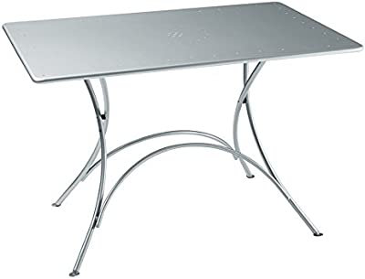 Pigalle tavolo pieghevole 903 acciaio verniciato a polvere Bianco Opaco Emu 3609032300/N 120/x 76/cm