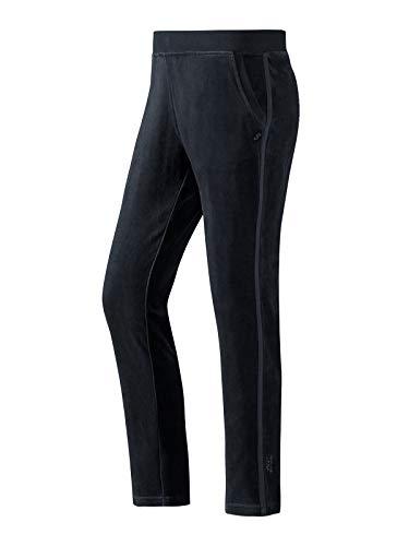 Joy Sportswear SARA Relaxpants für Damen für die Freizeit und zu Hause, Lange Freizeithose in stylischem Design aus kuscheligem Baumwoll-Velours-Jersey Kurzgröße, 18, Night